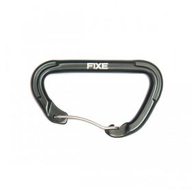 Fixe Rock Mosquetón, dark grey shinny/raw steel